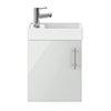 Milan 400mm Grey Mist Compact Wall Hung Vanity Basin Unit profile small image view 1