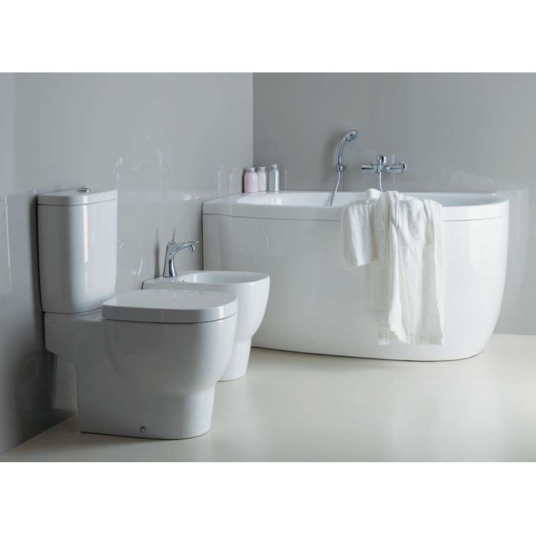Laufen - Mimo Close Coupled Toilet (Open Back) - MIMWC1 profile large image view 2