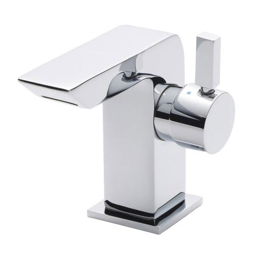 Ultra Mini Side Action Waterfall Mono Basin Mixer - Chrome - MIN365 Large Image