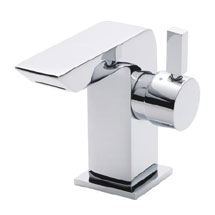 Ultra Mini Side Action Waterfall Mono Basin Mixer - Chrome - MIN365 Medium Image