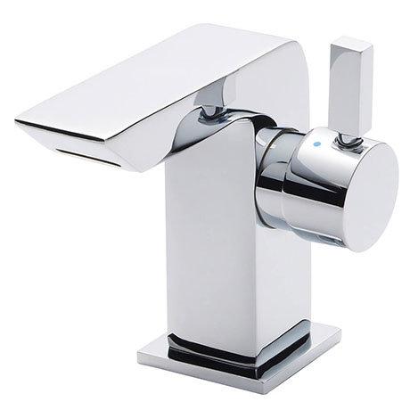 Nuie Mini Side Action Waterfall Mono Basin Mixer Inc. Waste - Chrome - MIN365