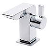 Nuie Mini Side Action Waterfall Mono Basin Mixer inc. Waste - Chrome - MIN365 profile small image view 1