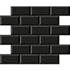 Victoria Black Mini Metro Mosaic Tile - 291 x 296mm profile small image view 1