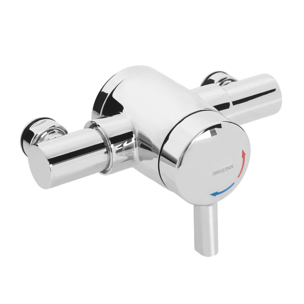 Bristan - Opac Thermostatic Exposed Mini Valve with Chrome Lever - MINI2-TS1203-EL-C Large Image