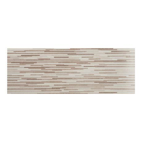 Minnesota Cream Gloss Decor Wall Tile - 250 x 700mm