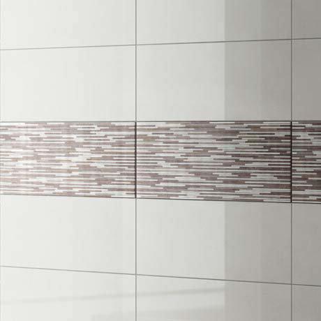 Minnesota Pearl Gloss Decor Wall Tile - 250 x 700mm