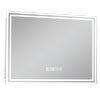 Turin 700x500mm LED Illuminated Mirror Inc. Anti-Fog, Digital Clock & Touch Sensor - MIR009 profile small image view 1
