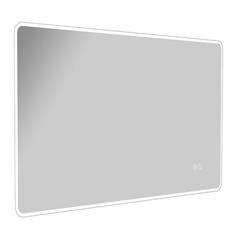 Turin 800 x 600mm Landscape LED Illuminated Bluetooth Mirror Inc. Touch Sensor