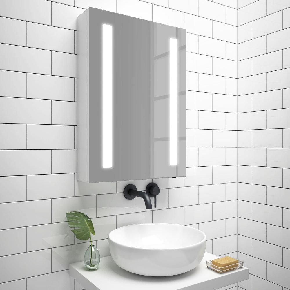 Turin 500x700mm LED Illuminated Mirror Cabinet Inc. Anti-Fog & Motion Sensor - MIR013