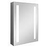 Turin 500x700mm LED Illuminated Mirror Cabinet Inc. Anti-Fog & Motion Sensor - MIR013 profile small image view 1