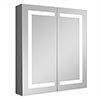 Turin 600x700mm LED Illuminated 2-Door Mirror Cabinet Inc. Motion Sensor - MIR014 profile small image view 1