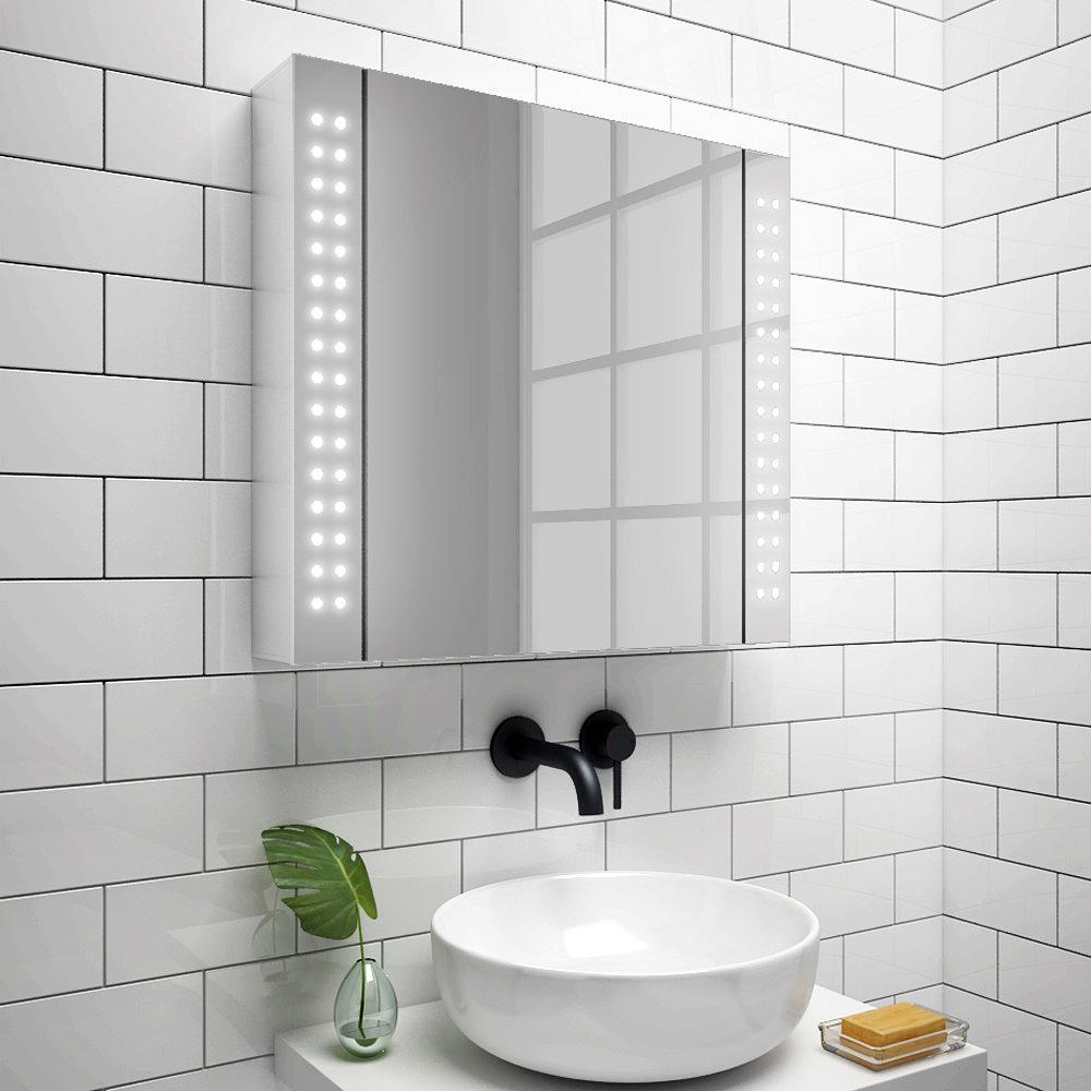 Turin 650x600mm Led Illuminated Mirror Cabinet Inc Motion Sensor Mir015 Victorian Plumbing Uk