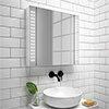 Turin 650x600mm LED Illuminated Mirror Cabinet Inc. Motion Sensor - MIR015 profile small image view 1