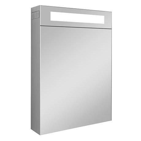 Turin 400x600mm LED Illuminated Mirror Cabinet Inc. Bluetooth, Infrared Sensor & Shaving Port - MIR0