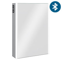 Turin 500x700mm LED Illuminated Bluetooth Mirror Cabinet with Motion Sensor, Shaving Socket & Anti-Fog - MIR017