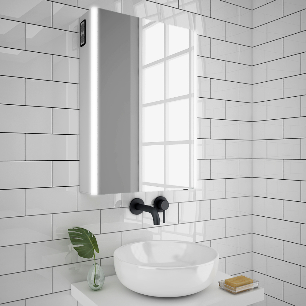 Turin 500x700mm Led Illuminated Bluetooth Mirror With Motion Sensor Shaving Socket Anti Fog Mir017 Victorian Plumbing Uk