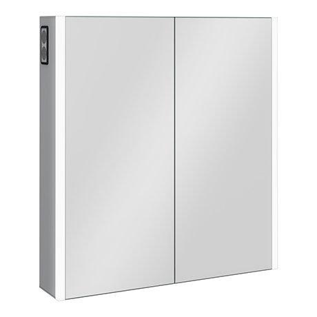 Turin 700x650mm LED Illuminated 2-Door Bluetooth Mirror Cabinet with Motion Sensor, Shaving Socket &