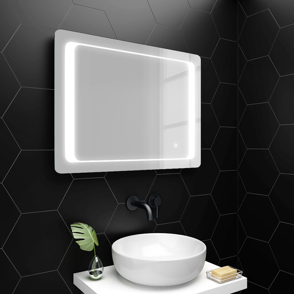 Turin 800x600mm Led Illuminated Bathroom Mirror Inc Anti Fog Touch Sensor Mir019 Victorian Plumbing Uk