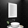 Turin 500x700mm LED Illuminated Mirror Inc. Anti-Fog, Digital Clock & Touch Sensor - MIR020 profile small image view 1