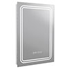 Turin 500x700mm LED Illuminated Mirror Inc. Anti-Fog, Digital Clock & Touch Sensor - MIR020 profile small image view 1