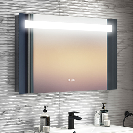 Turin 1200 x 600mm Landscape LED Back-lit Bluetooth Mirror Inc. Touch Sensor