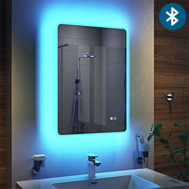 Turin 500x700mm Ambient Colour Change LED Bluetooth Mirror inc. Touch Sensor + Anti-Fog