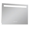 Turin 800x600mm LED Illuminated Mirror Inc. Anti-Fog, Digital Clock & Touch Sensor - MIR042 profile small image view 1