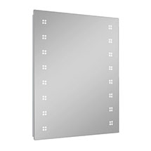 Turin 800 x 600mm LED Illuminated Mirror Inc. Touch Sensor, Anti-Fog & Shaving Socket Medium Image