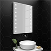 Turin 800x600mm LED Illuminated Mirror Inc. Touch Sensor, Anti-Fog & Shaving Socket profile small image view 1