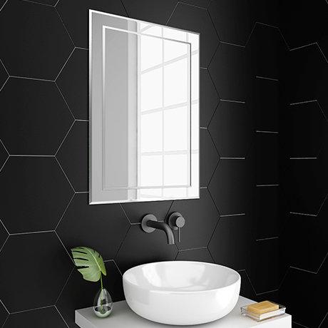 Trafalgar 500 x 700mm Rectangular Bevelled Bathroom Mirror