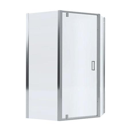 Mira Leap 1200 x 900 Offset Pentagon Pivot Door Shower Enclosure