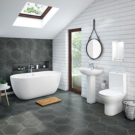 Mirage Modern Free Standing Bathroom Suite