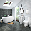 Mirage Modern Free Standing Bathroom Suite profile small image view 1