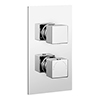 Milan Twin Square Concealed Shower Valve with Diverter - Chrome profile small image view 1