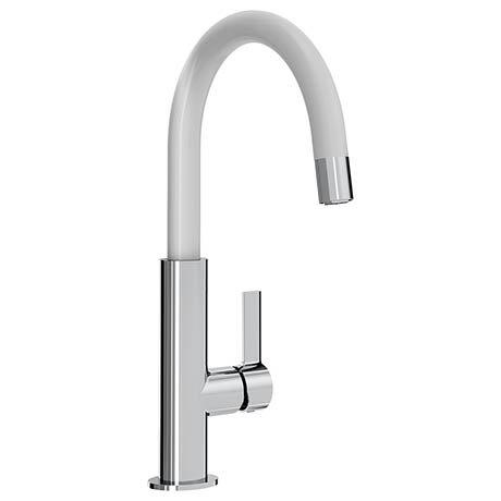 Bristan Melba Kitchen Sink Mixer - White - MLB-SNK-WHT
