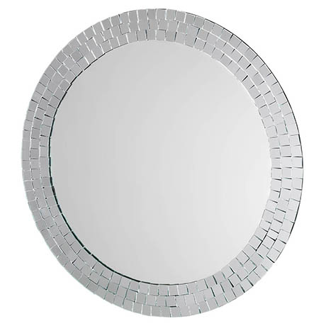 Croydex Meadley Circular Mirror with Mosaic Surround 600 x 600mm