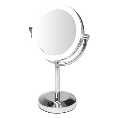 Croydex Free Standing Double Sided Circular Illuminated Vanity Mirror Mm700900 At Victorian