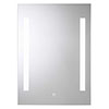 Croydex Henbury Hang N Lock Illuminated Mirror with Demister Pad 700 x 500mm - MM720300E profile small image view 1