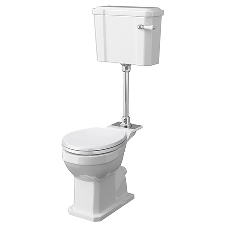 Milton Traditional Comfort Height Mid-Level Toilet + White Soft Close Seat