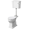 Milton Traditional Comfort Height Mid-Level Toilet + White Soft Close Seat profile small image view 1