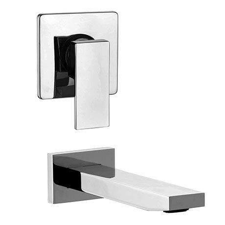 Milan Modern Concealed Manual Shower Valve + Bath Spout