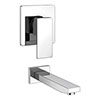 Milan Modern Concealed Manual Shower Valve + Bath Spout profile small image view 1