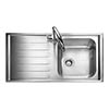 Rangemaster Manhattan 1.0 Bowl Stainless Steel Kitchen Sink profile small image view 1