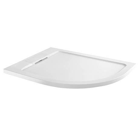 Moda Offset Quadrant Hidden Waste Low Profile Shower Tray