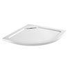 Moda Quadrant Hidden Waste Low Profile Shower Tray profile small image view 1