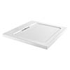 Moda Square Hidden Waste Low Profile Shower Tray profile small image view 1