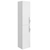 Brooklyn Wall Hung 2 Door Tall Storage Cabinet - White Gloss profile small image view 1