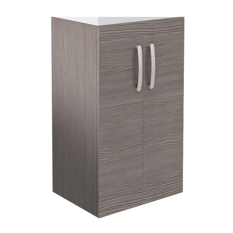 Brooklyn 500mm Grey Avola Floor Standing Vanity Cabinet (excluding Basin)