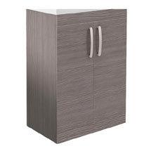 Brooklyn 600mm Grey Avola Floor Standing Vanity Cabinet (excluding Basin) Medium Image