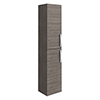 Brooklyn Wall Hung 2 Door Tall Storage Cabinet - Grey Avola profile small image view 1